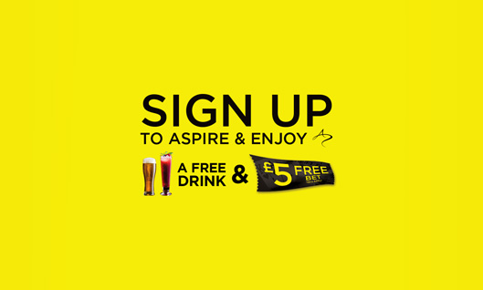 Sign up to Aspire and enjoy a Free Drink